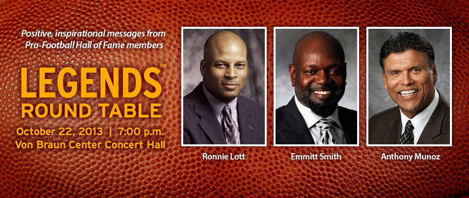 Our 2013 Legends: Ronnie Lott, Emmitt Smith and Anthony Munoz