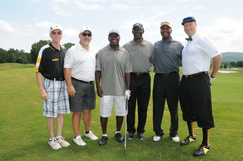 Steelers fans at the golf torunament